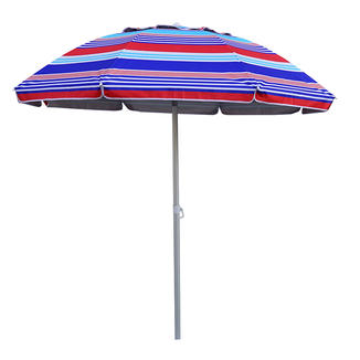 UV Protection Steel Beach Umbrella with Tilt   BU1920-2