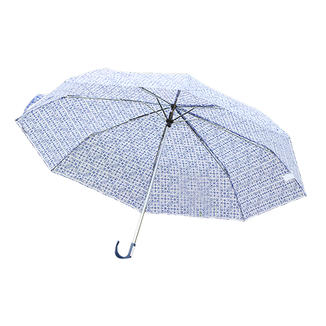 Mini 3 fold umbrella with hook handle  RU1905
