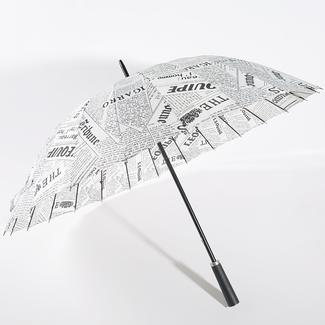 Straight umbrella in newspaper style RU1962