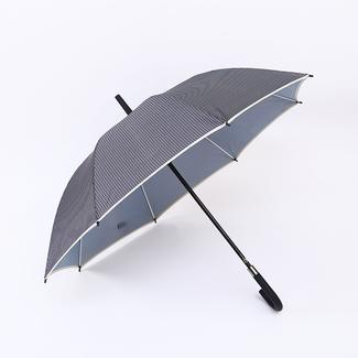 Strong straight umbrella in plaid style RU19114