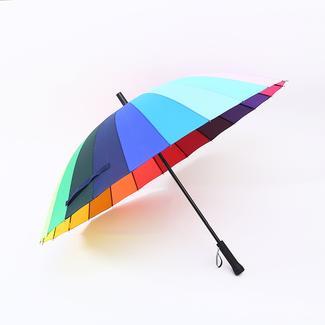 Paraguas fuerte recto arcoíris 24K RU1996