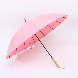 16K straight umbrella with wooden handle RU19103